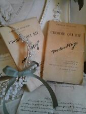 Antique French Books~L'HOMME QUI RIT~ Victor Hugo~Editor Jules Rouff~Paris~Decor
