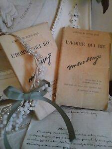 Antique French Books~L'HOMME QUI RIT~ Victor Hugo~Editor Jules Rouff~Paris~Decor
