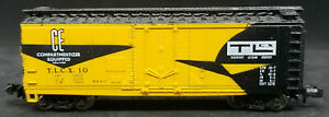 BACHMANN N SCALE: TLCX #10 BOXCAR . YELLOW, VINTAGE Transport Leasing Company
