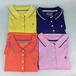 1 One Coolibar Women's Short Sleeve Golf Polo Shirt UPF50 XXL: 4 Colors Avail.