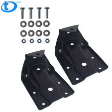 Pair Rear Leaf Spring Hanger Shackle Bracket Kit for Chevy Silverado GMC Sierra