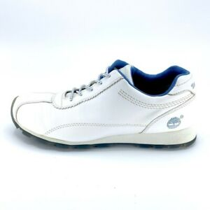 Timberland Womens Low Top Shoes White Blue 16388 Comfort Leather Lace Up 7.5 M