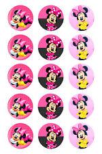 15 x Minnie Mouse Bottle Cap Logo Images for Necklaces, Magnets, Scrapbooking