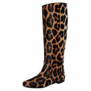 Giuseppe Zanotti Design Women's Pony Hair Leather Boots Shoes 5 7 8 9 10 11 12