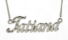 18K White Gold Plated Necklace With Name TATIANA - Christmas Personalized Gifts