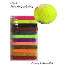 Uvx Dubbing Dispenser Fly Tying - 12 Colors.