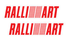 Ralliart performance racing jdm sticker vinyl decal car window bumper set of 2