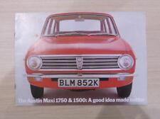 AUSTIN MAXI 1750 & 1500 Car Sales Brochure Sept 1971 #2786/B