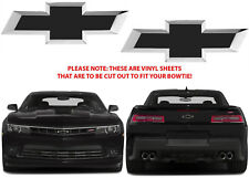 Flat Black Vinyl Bowtie Decals For 2012-2018 Chevrolet Camaro New Free Shipping