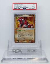 Pokemon Ex Crystal Guardians Groudon Ex 93/100 Holo Card Psa 9 Mint #28223052