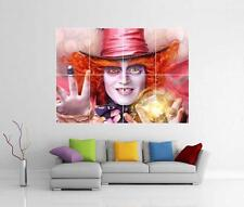 Mad Hatter JOHNNY DEPP alice au pays des merveilles GIANT WALL ART Photo Poster