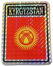 Wholesale Lot 12 Kyrgyzstan Country Flag Reflective Decal Bumper Sticker