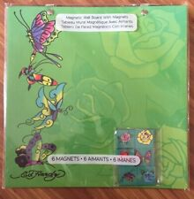 """New Ed Hardy Magnetic Board w 6 Magnets Green 10""""x10"""" dorm message BTS"""