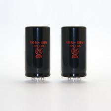 2x JJ Elko 100+100uF 500V ( Can capacitor , Elektrolyt Kondensator , 100 uF µF )