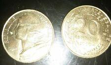 2 pièces 20 CENTIMES MARIANNE - 2000 - (15 000 Ex)  // Qualité:  TBE