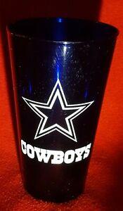 Dallas Cowboys NFL - Blue 16 oz Pint Heavy Plastic Drinking Glass