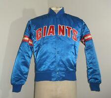 Vintage 80s STARTER NEW YORK GIANTS NFL retro Satin Nylon Jacket USA MADE Small