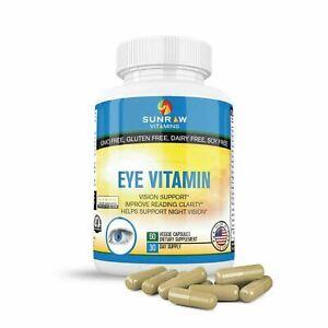 Lutein, Zeaxanthin, Eyebrigth, Vision Support Eye Vitamins supplements - 60 caps