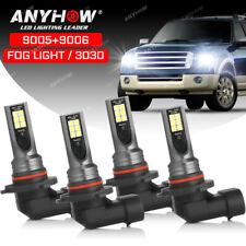 New listing 4x 9005 9006 Led Combo Headlight Bulbs High Low Beam Kit 6500K Xenon Super White