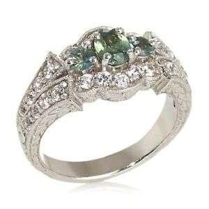 HSN Generations 1.30ct Indian Alexandrite & Zircon Sterling Silver Ring 8