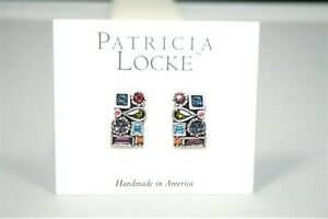 NEW ON CARD - PATRICIA LOCKE JOY COLLECTION POST EARRINGS - SILVER TONE