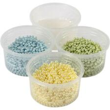 Pearl Clay Modelling With Light Blue Green Yellow Plastic Beads Craft 25g