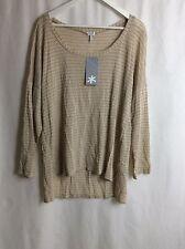 Splendid NWT Womens Shirt Top Pull Over V-Neck High-Low Hem CHOP Retail 84.00 1X