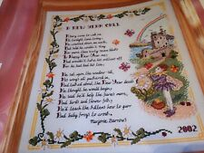 CROSS STITCH CHART CELTIC SAMPLER CHART NEW YEAR FANTASY IRISH FAIRY POEM