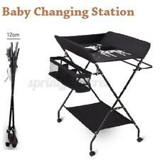 Baby Changing Table Portable Folding Diaper Changing Station with Wheels