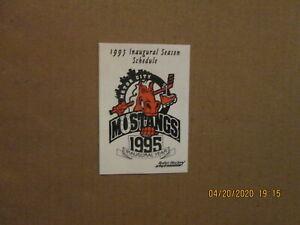 RHI Motor City Mustangs Vintage Defunct 1995 Team Logo Roller Hockey Schedule
