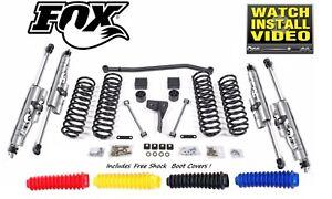 "Fox Shocks 2.0 Remote Rez 4"" Susp Lift Kit Zone for Jeep Wrangler JK Unlimited"