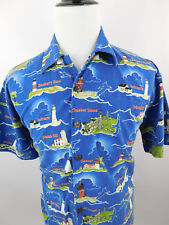 David Carey Originals Mens Lighthouses of Massachusetts Short Sleeve Shirt Large