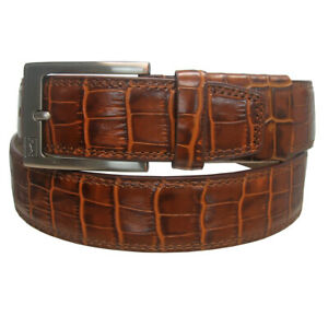 PGA Tour Men's Genuine Leather Crocodile Pattern Golf Belt,  Brand New