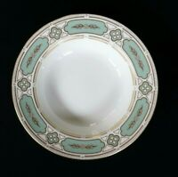 Beautiful Minton Imperial Jade Rimmed Soup Bowl