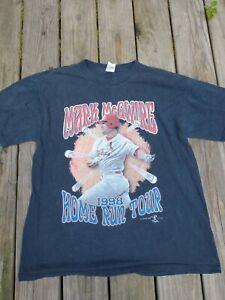 VINTAGE 1998 LICENSED MLB MARK MCGWIRE HOME RUN TOUR T-SHIRT. SIZE XL