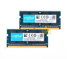 Crucial Kit de 8GB 2X 4GB PC3L-12800 DDR3L-1600MHz 204Pin Memoria Ram Para Computadora Portátil SO-DIMM