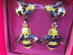 butler and wilson brand new bee earrings