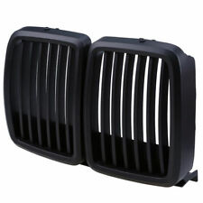 Fit BMW 3 Series E30 1983-1991 2 Pcs Matte Black Front Hood Kidney Grill Grille