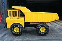 Mighty Tonka XMB-975 Yellow Dump Truck - Pressed Steel