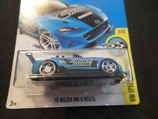 HW HOT WHEELS 2017 HW SPEED GRAPHICS #9/10 '15 MAZDA MX-5 MIATA BLUE HOTWHEELS