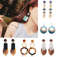 Women Acrylic Resin Earring Pendant Drop Dangle Studs Beauty Statement Jewelry
