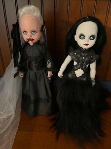 Living Dead Dolls Handmade OOAK Custom Lot of 2 Vampire Lady & Gothic Model
