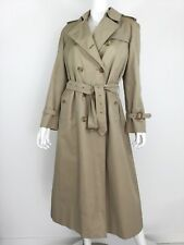 Burberry Khaki Trench Coat With Double Lining Size 10