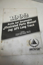 1992 Arctic Cat Jag AFS Long Track Illustrated Parts Manual - 1 Speed & 2 Speed