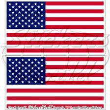 """USA United States of America Flag 4"""" (100mm) Vinyl Bumper Stickers, Decals x2"""