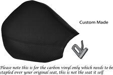 CARBON FIBRE VINYL CUSTOM FITS KAWASAKI ZX10 R NINJA 1000 04-05 FRONT SEAT COVER