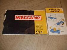RARE 1973 Meccano Book of Models Set 2 3 4 + Set 1 Brochure Catalog UK Liverpool