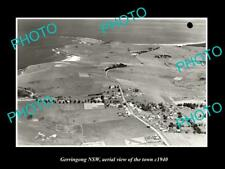 OLD LARGE HISTORIC PHOTO GERRINGONG NSW AUSTRALIA, TOWN AERIAL VIEW c1940