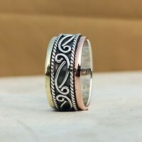 925 Sterling Silver Ring Spinner Ring Meditation Ring Handmade Ring Jewelry A250