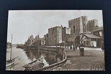 More details for vintage postcard castle rushen & harbour castletown isle of man unposted